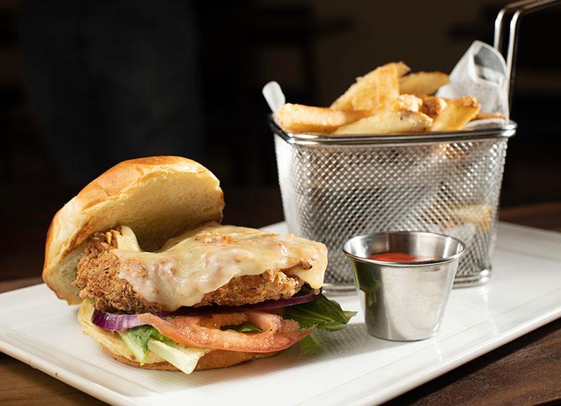 a chicken sandwich from bracket room in creve coeur