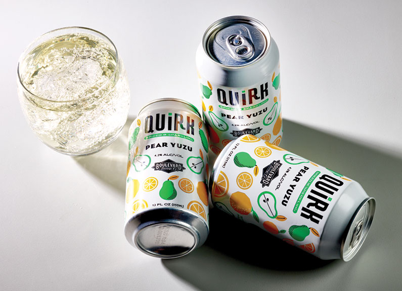 Boulevard Brewing Co. Quirk Spiked & Sparkling Pear Yuzu