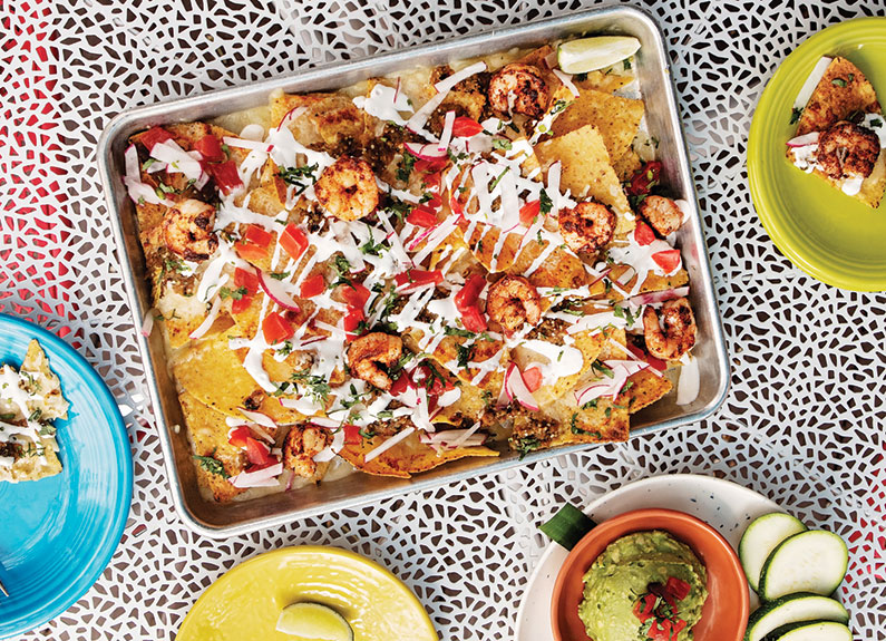 sheet pan nachos at diego's cantina in university city