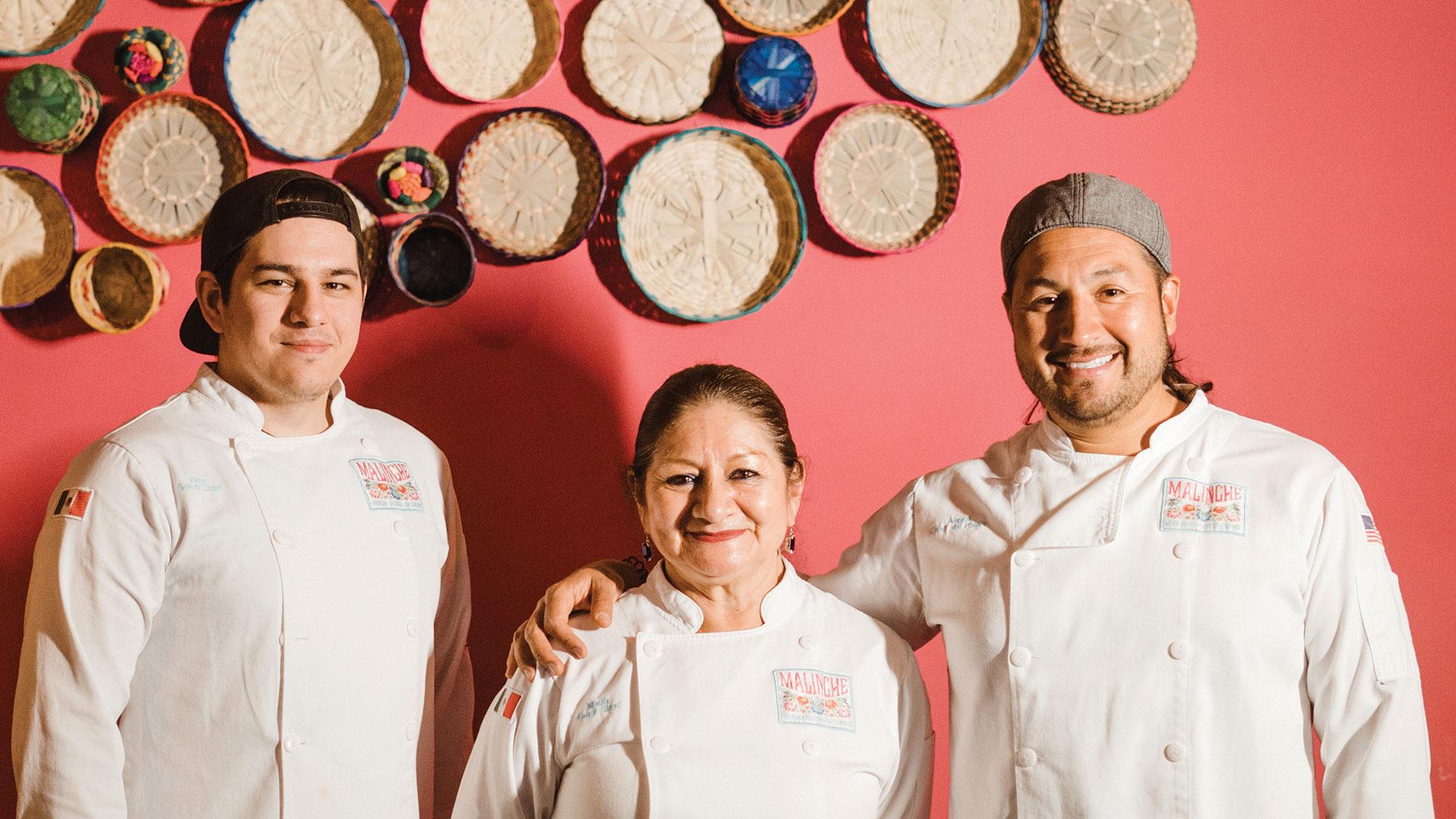 malinche sous chef john howe, head chef maría gutiérrez molina and co-owner angel jiménez-gutiérrez