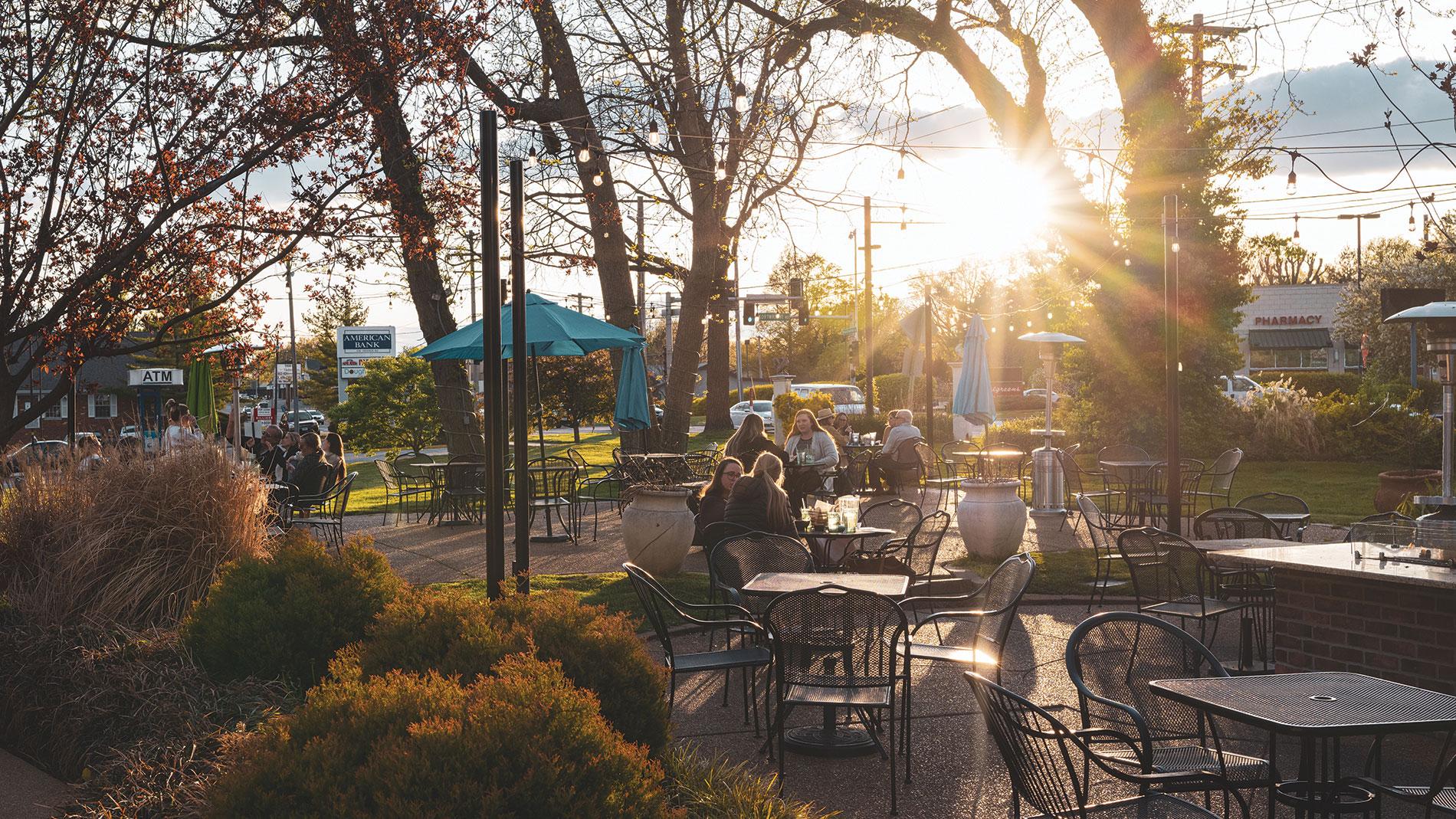 the patio at hacienda mexican restaurant in rock hill