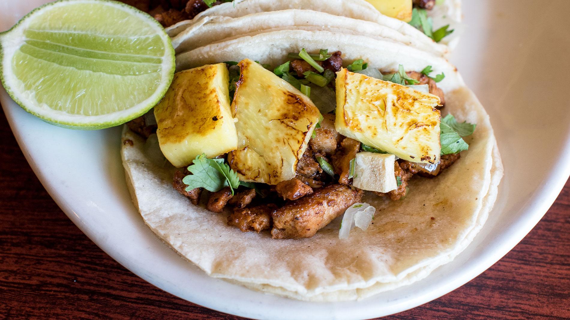 al pastor tacos from la vallesana on cherokee street in st. louis