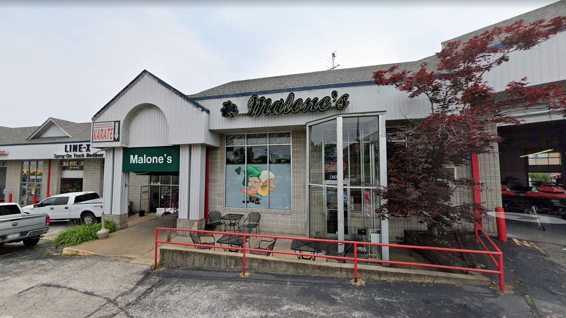 malone's grill & pub in st. louis