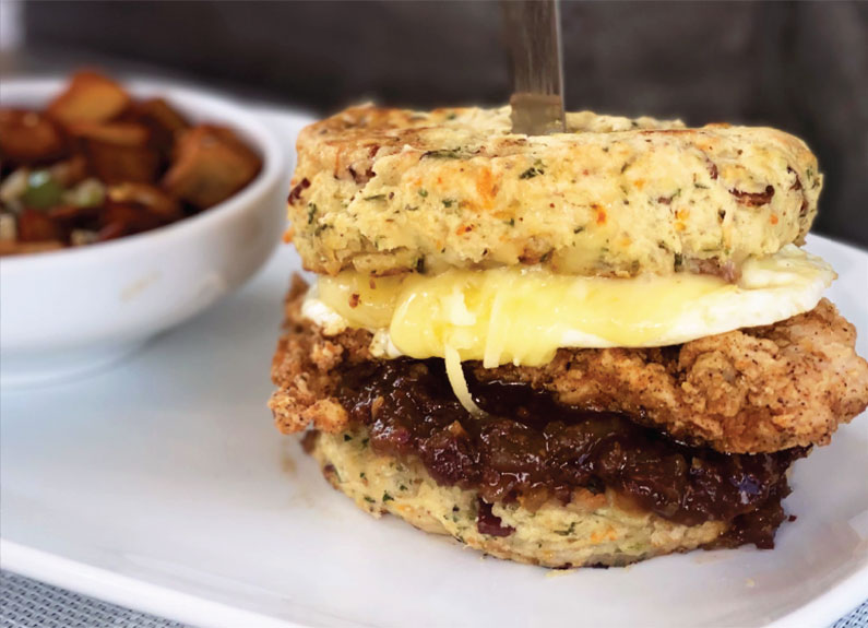 the which came first? biscuit sandwich at twisted biscuit in edwardsville