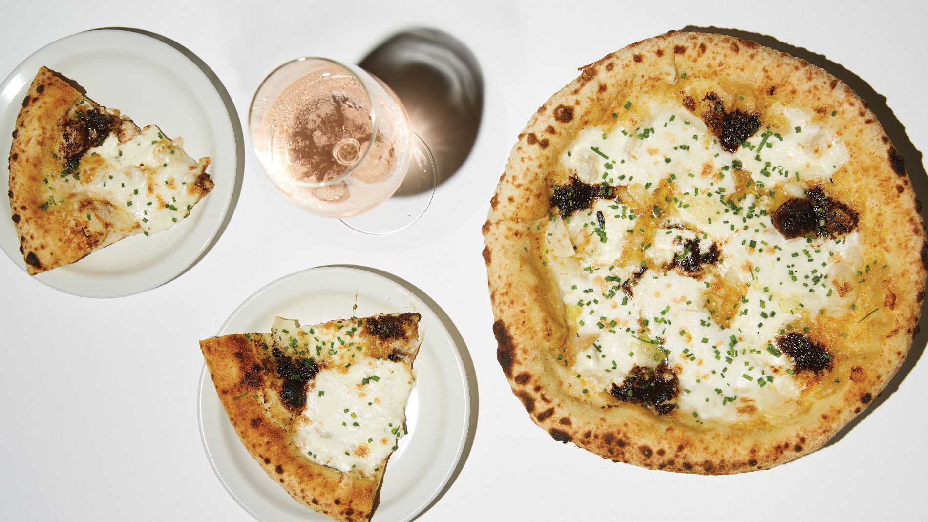 black garlic bread at Katie's Pizza & Pasta Osteria in st. louis