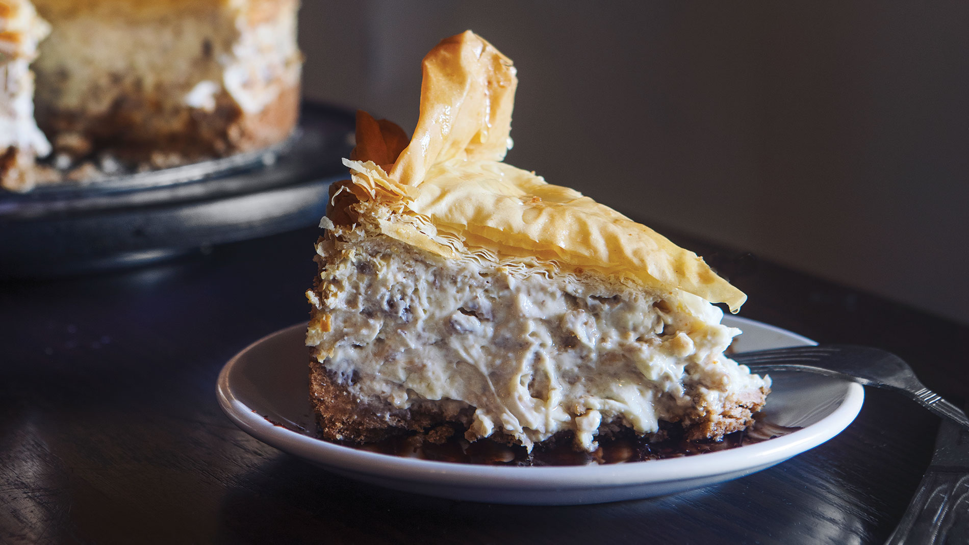 baklava cheesecake from The Greek Kitchen in st. louis