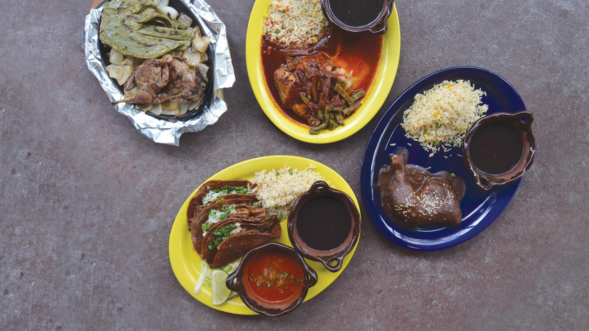 dishes from mezcaleria las chupcabras