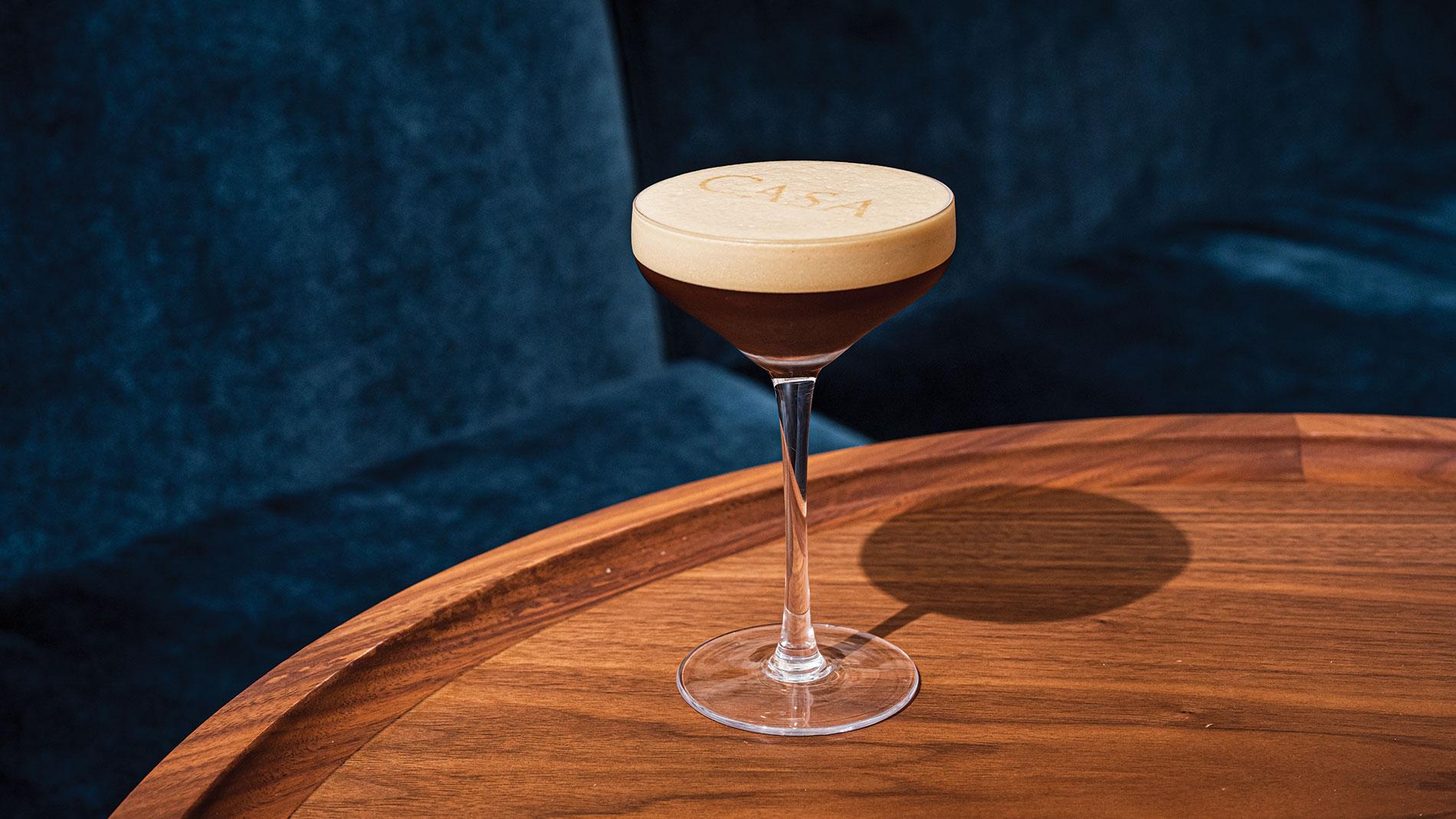 espresso martini at casa don alfonso in clayton