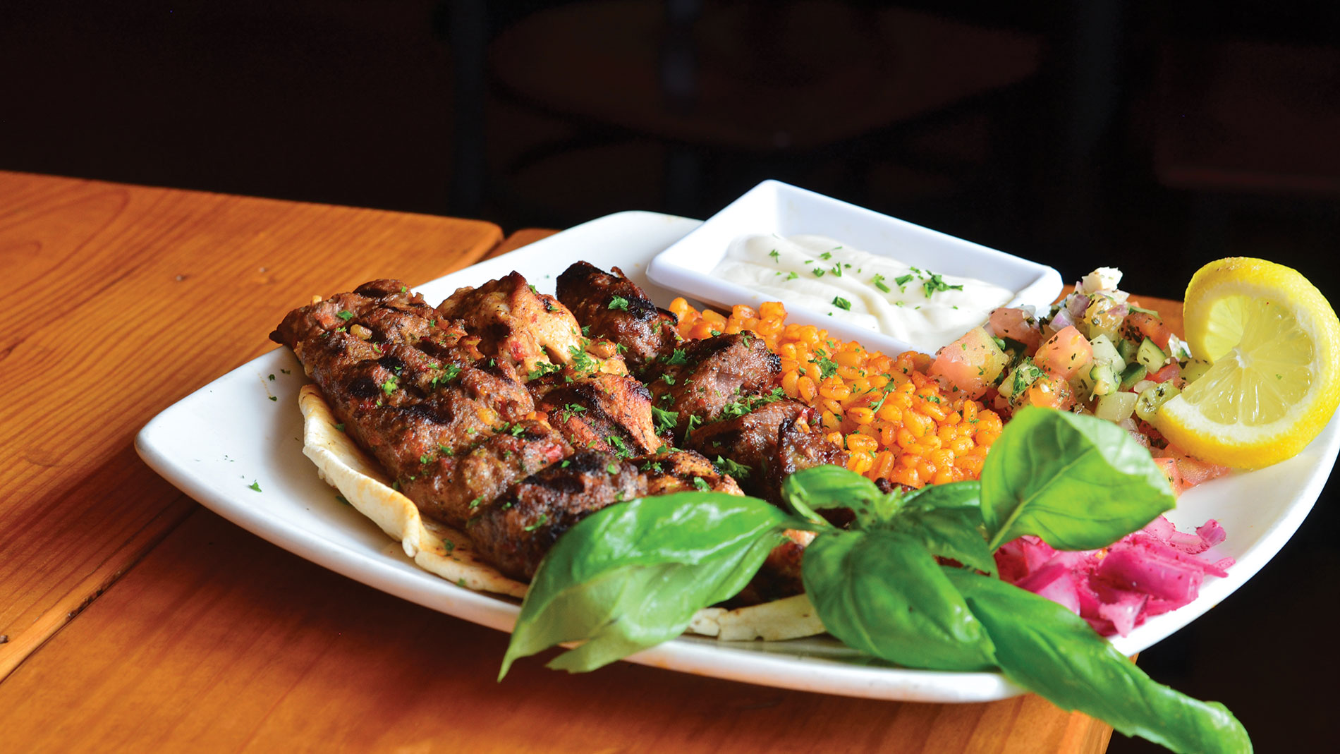 mixed grill at afandi sweets & cafe in st. louis