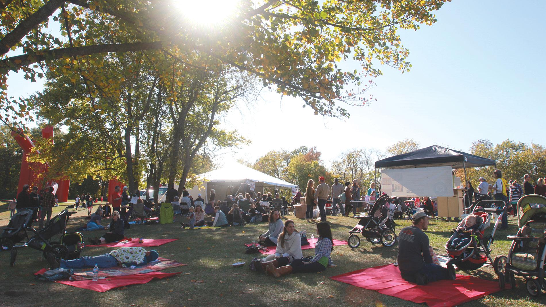 sauce magazine harvest festival in tower grove park