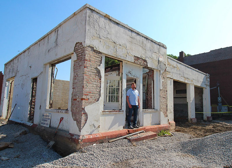 owner dave bailey at the future second location of baileys' range in tower grove