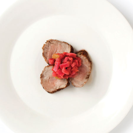 Pork Tenderloin with Spicy Rhubarb Compote