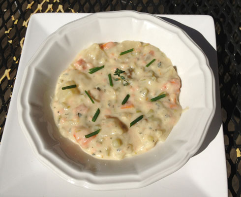 russ and daughters' lox chowder