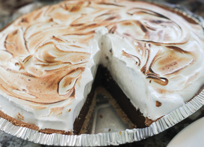 S'more Pie with Marshmallow Meringue