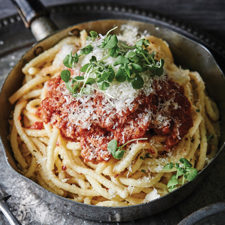 Spaghetti with Herbs and Cheese