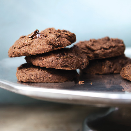 Vegan Chocolate Zucchini Cookies