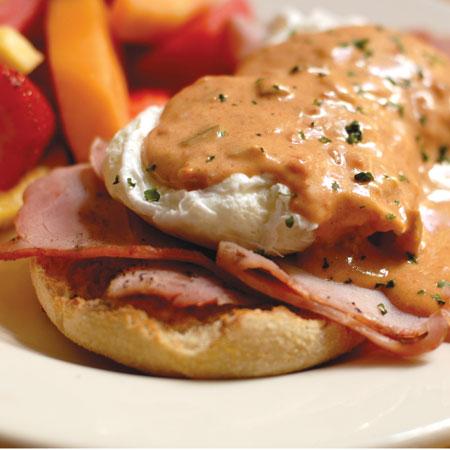 Duff's Restaurant's Creole Eggs Benedict
