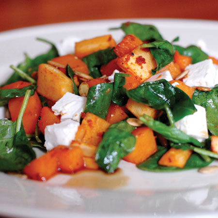 Warm Spiced Roasted Root Vegetable Salad with Feta and Pumpkin Seeds