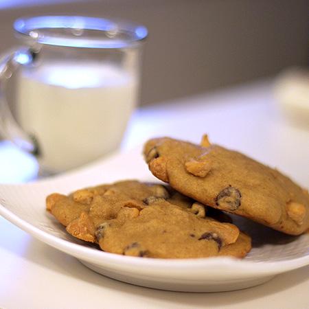 Pumpkin-Butterscotch Chocolate Chip Cookies
