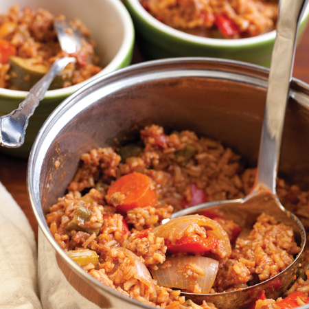 Everything-in-the-Crisper Jambalaya