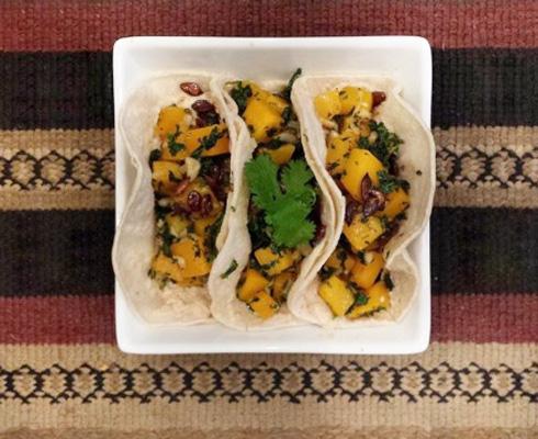By the Book: Sara Deseran's Butternut Squash, Kale and Crunchy Pepitas Taco