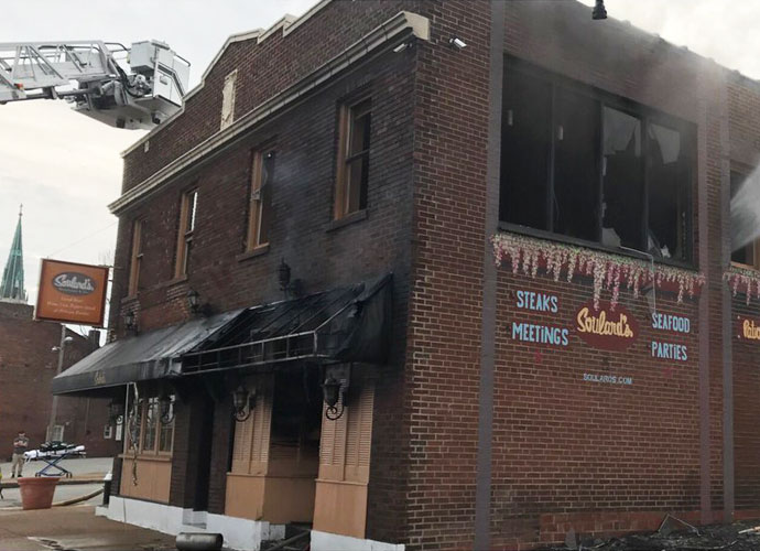 exterior of soulard's restaurant after fire