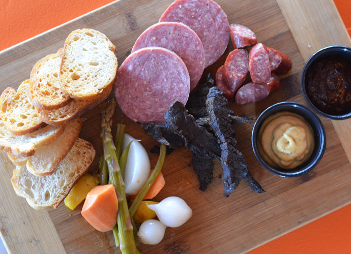 the meaty bits board at snax gastrobar in lindenwood park