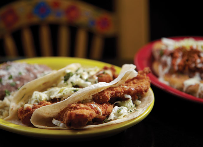 Diablitos' Baja fish tacos at Sanctuaria