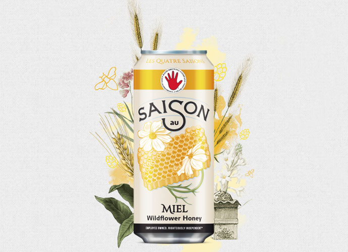 Left Hand Brewing Co.'s new seasonal, canned farmhouse release, Saison au Miel