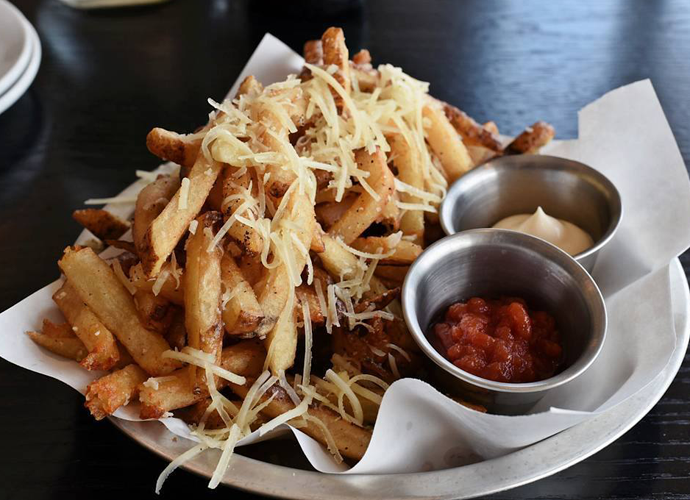 fries from Edible & Essentials' food truck Essentially Fries