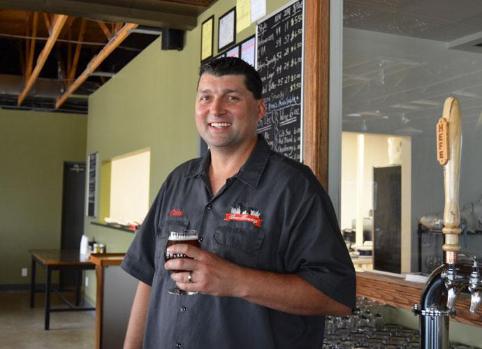 Greer Brewing Co.'s brewer-owner Chris Greer