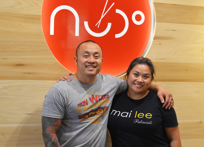 From left, Nudo House co-owners Qui Tran and Marie-Anne Velasco