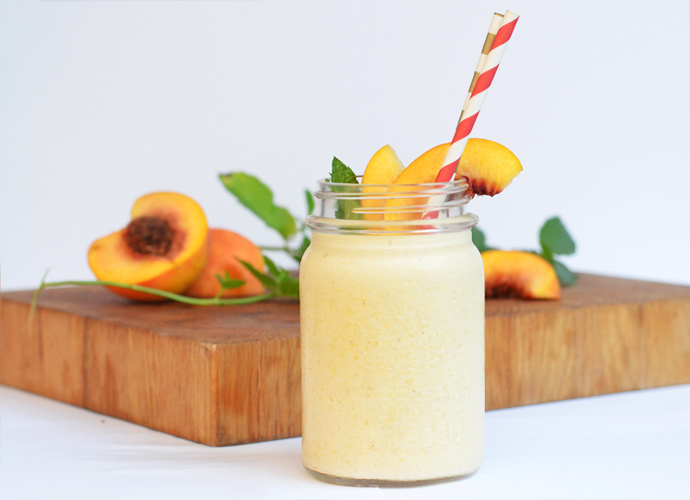 Peach-Bourbon Milkshake