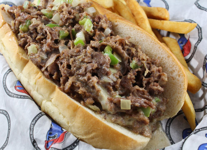 cheesesteak at The Post Sports Bar in Maplewood
