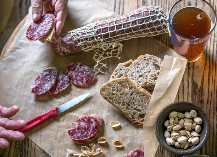 salami from volpi foods in st. louis