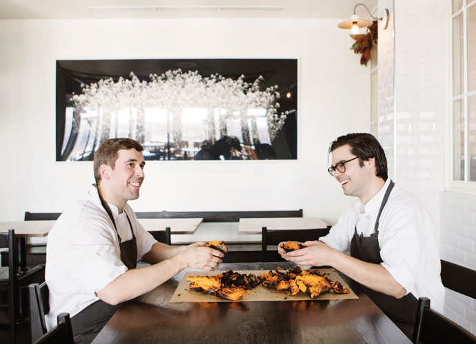 Vicia Sous Chefs Patrick Seibold and Alec Schingel