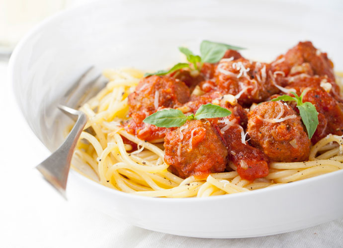 Italian-American classics like spaghetti and meatballs at Primo's