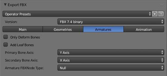 Blender Settings | Armatures