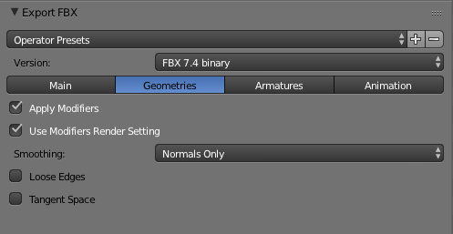 Blender Settings | Geometries