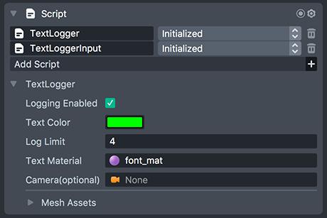 TextLogger Settings