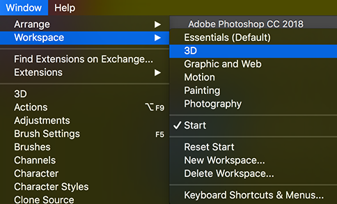 Importing into Photoshop