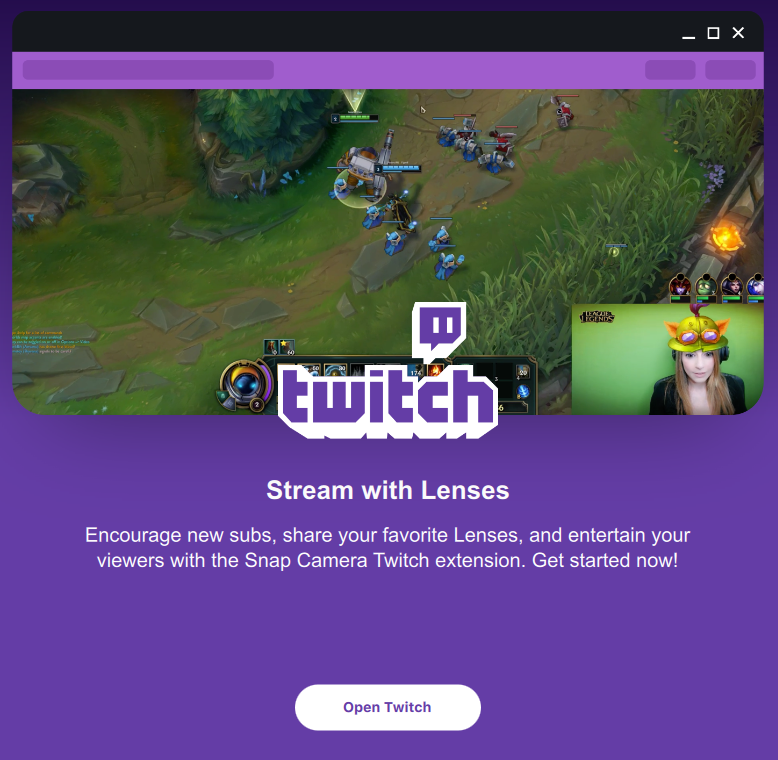 Twitch Extension - Snap Camera