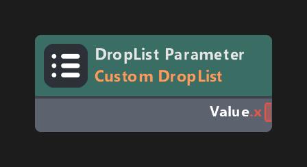 DropList Parameter