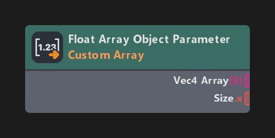 Float Array Object Parameter