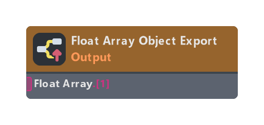 Float Array Object Export