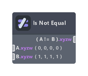 Is Not Equal