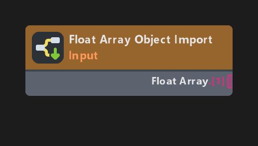 Float Array Object Import