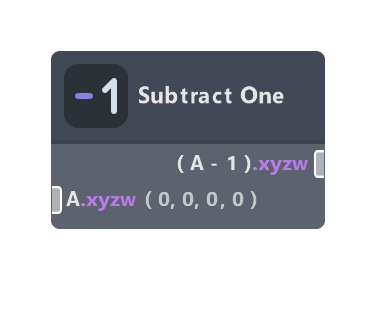 Subtract One