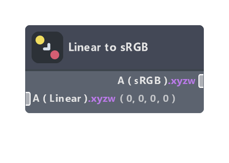 Linear to sRGB