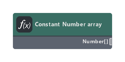 Constant Number array